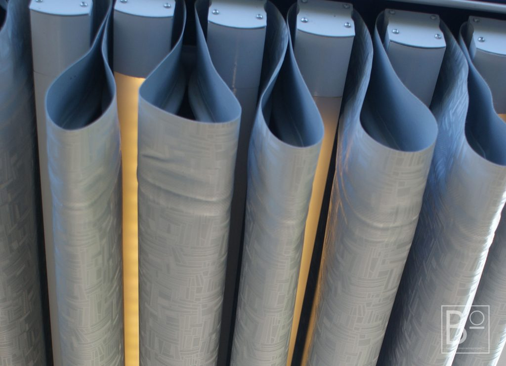 doek voor in overkapping UV werend en electriche bedienbaar