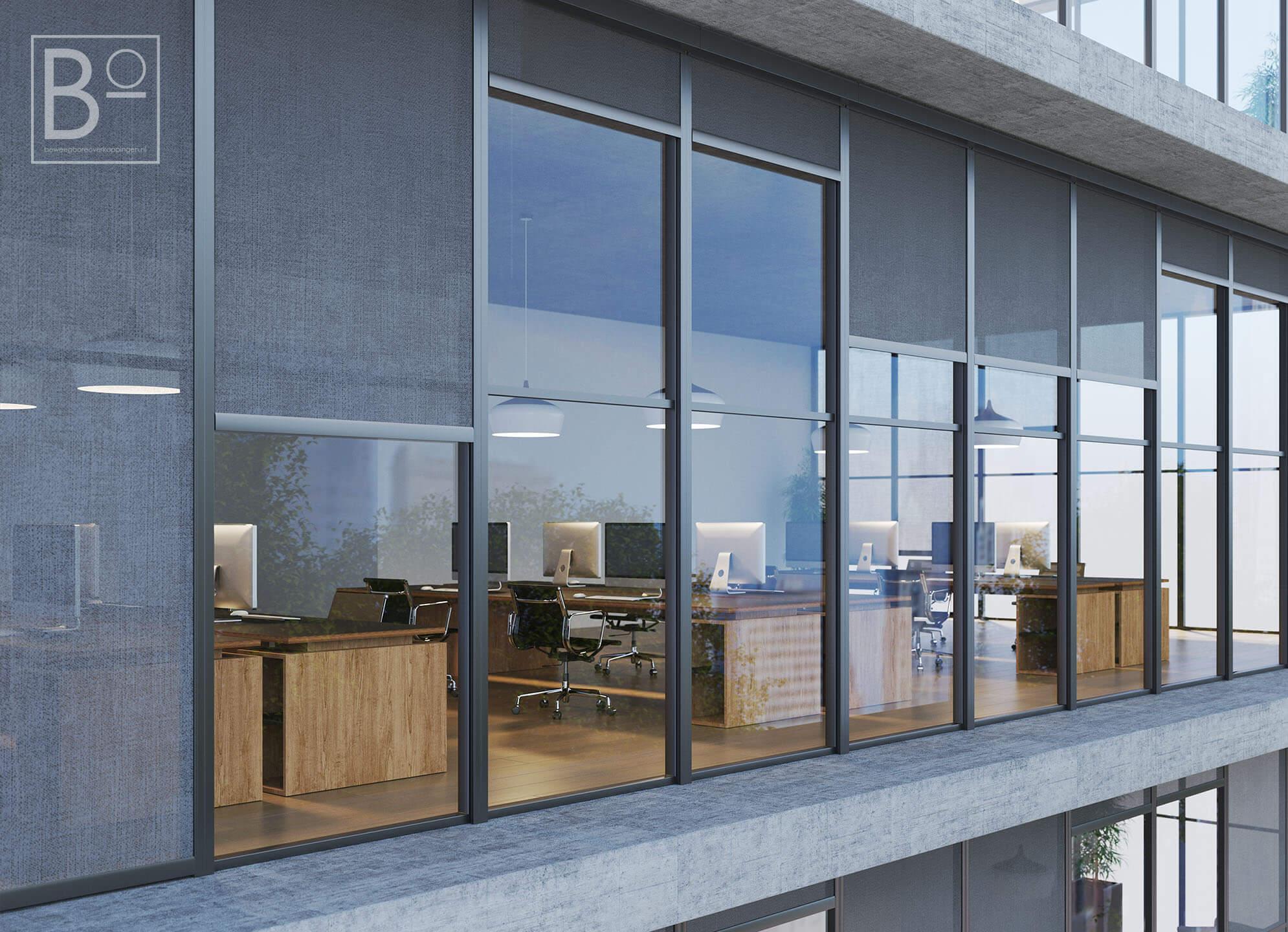 kantoorpand met screens