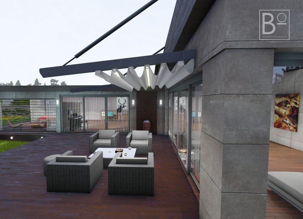 zowel voor diepe als lange terrassen zijn vrijhangende overkappingen een uitkomst
