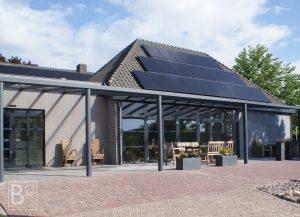 Beschut genieten onder een vaste overkapping met polyacrylaat dak