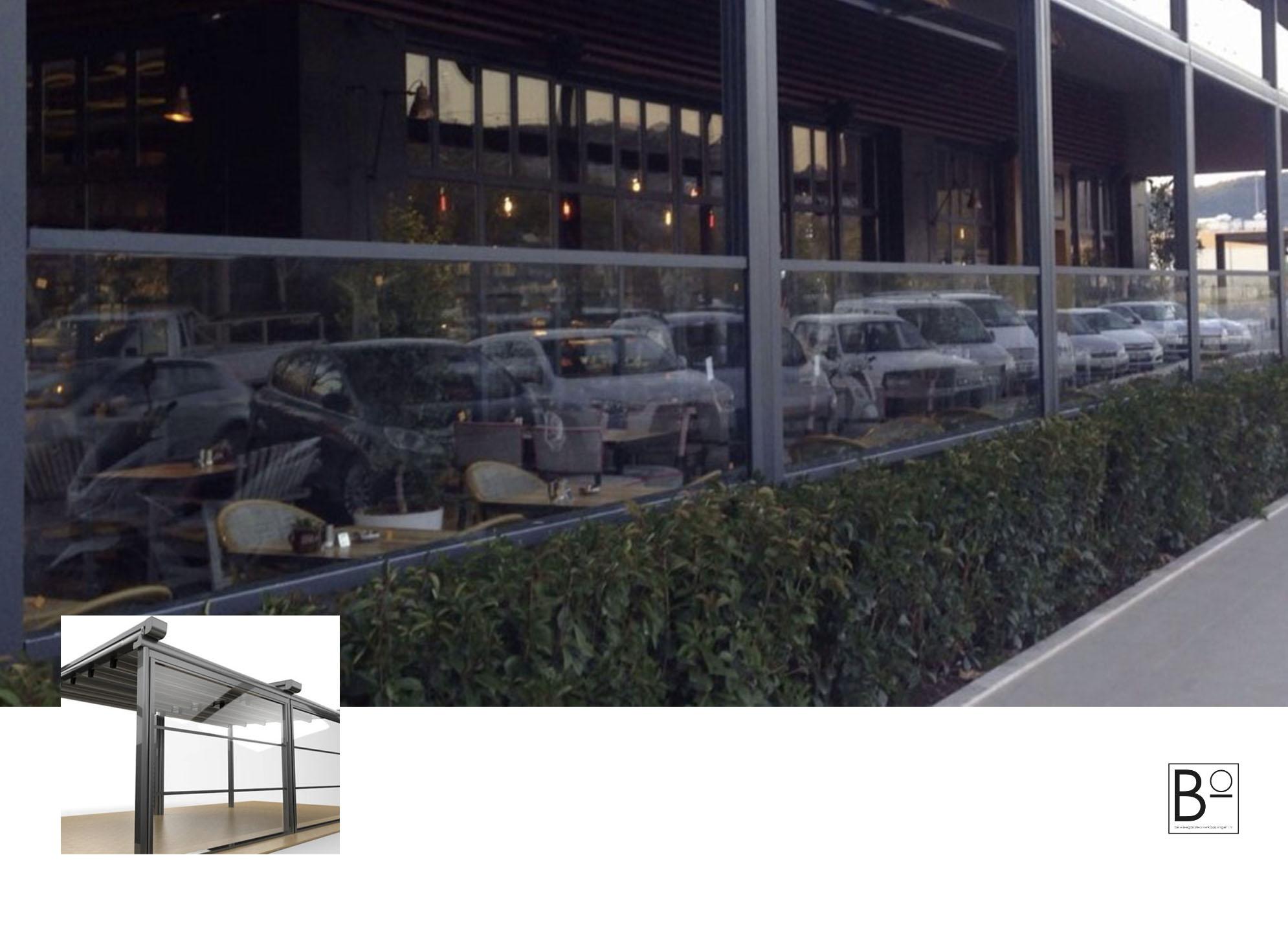 Beweegbaar terrasscherm voor de horeca